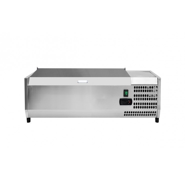 Saladette à poser Gamme 1200 - Couvercle inox
